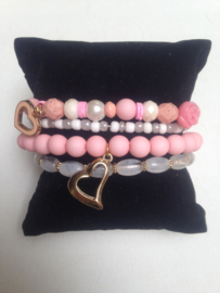 Arm candy pink heart