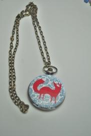 Fox in blue horloge