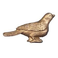 Vogel ladeknop goud