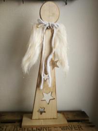 Houten engel decoratie