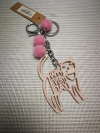 Pink cat sleutelhanger