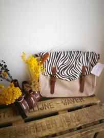 Zebra print handtas
