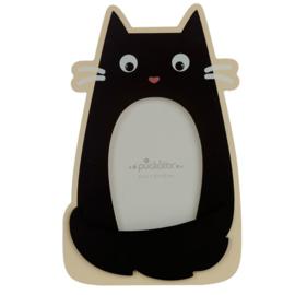 Feline zwarte kat kader