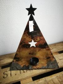 stoere metalen kerstboom theelicht