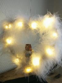 Engel op staander met lichtjes