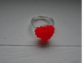 Rood hart ring