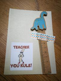 Kaart met meetlat teacher you rule