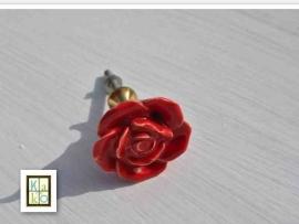 Rode bloem deurknop of ladeknop