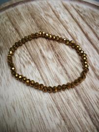 Bruin goudkleurige armband
