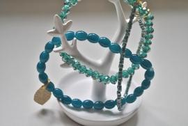 Set van 3 groene armbanden