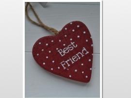 Houten best friend kaartje