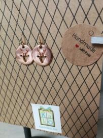 Rosé gold hertjes oorbellen