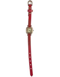 Rood rond horloge