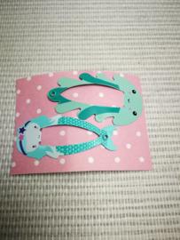Zeemeermin en octopus haarclips