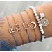 set wit / grijze armbanden