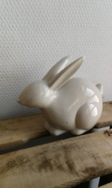 Abstract keramisch konijn grijs/beige kleur