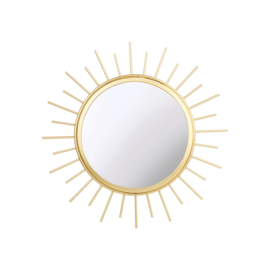 Goudkleurige zon spiegel