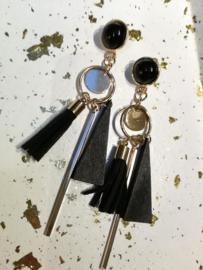 Tassel black earring