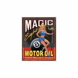 Metalen bord Magic eight motor oil