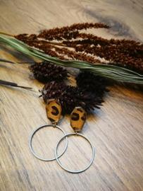 Luipaard zwarte oorbellen