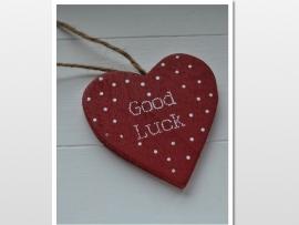 Good luck rood houten kaartje