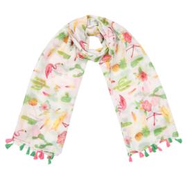 Tropische sjaal flamingo