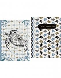 Mini boekje set van 2 stuks schildpad