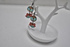 Tree in color earrings