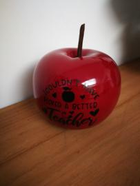 Dieprode appel juf bedankje