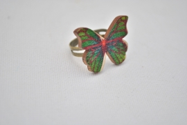 Vlinder ring groen