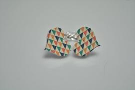 Hartjes in geometrische stijl
