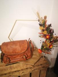Cognac kleurige handtas