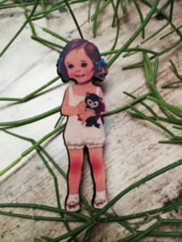 Retro girl broche