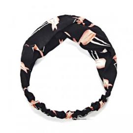 Haarband flamingo zwart