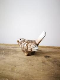 Decoratief bruin vogeltje