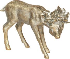 Decoratief hert goudkleur