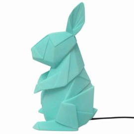 Origami lamp mint green rabbit