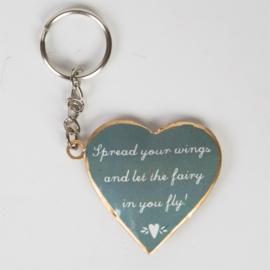 Vintage fairy sleutelhanger