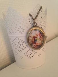 Alice in wonderland horloge ketting