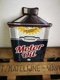 Motor oil plaat