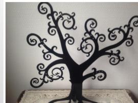 Zwarte juwelen boom