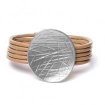 Bruine Biba armband metaal