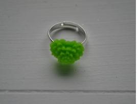 Groene hartjes ring