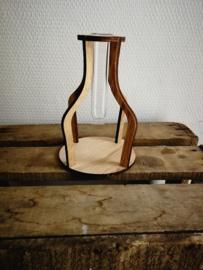 Vaasje hout klein model