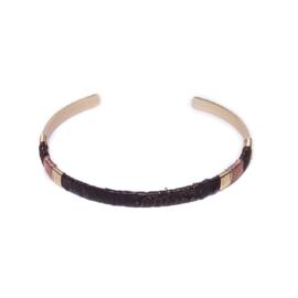 Bruine armband dun model biba