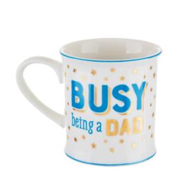 Busy being a dad koffie tas