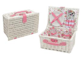 Picknick voor twee personen romantisch roze