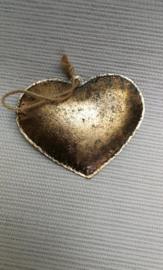 Goudkleurig metalen hart