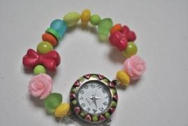 Kleurrijk horloge voor kids op elastiek