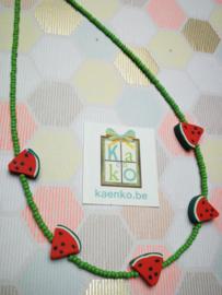 Watermeloen ketting groen
